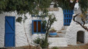 Rodos, białe budynki wyspy