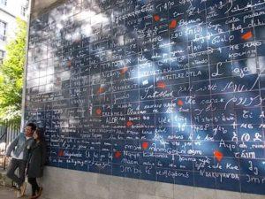 Paryż, ściana zakochanych