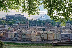 salzburg panorama miasta